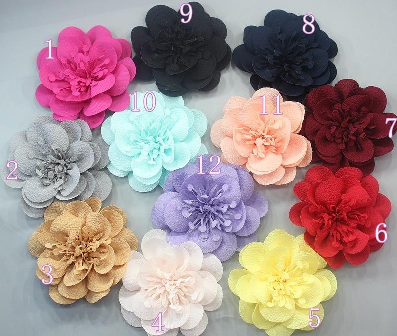 DIY acessórios de vestuário sandálias Diy sandálias 7cm flor sapato de tecido chiffon artesanal chapéu placa praia com flor