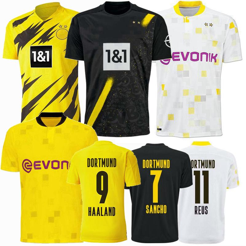 2019 2020 2021 Borussia dortmund soccer jersey 20 21 football shirts HAALAND REUS men +kids kit maillot DE FOOT