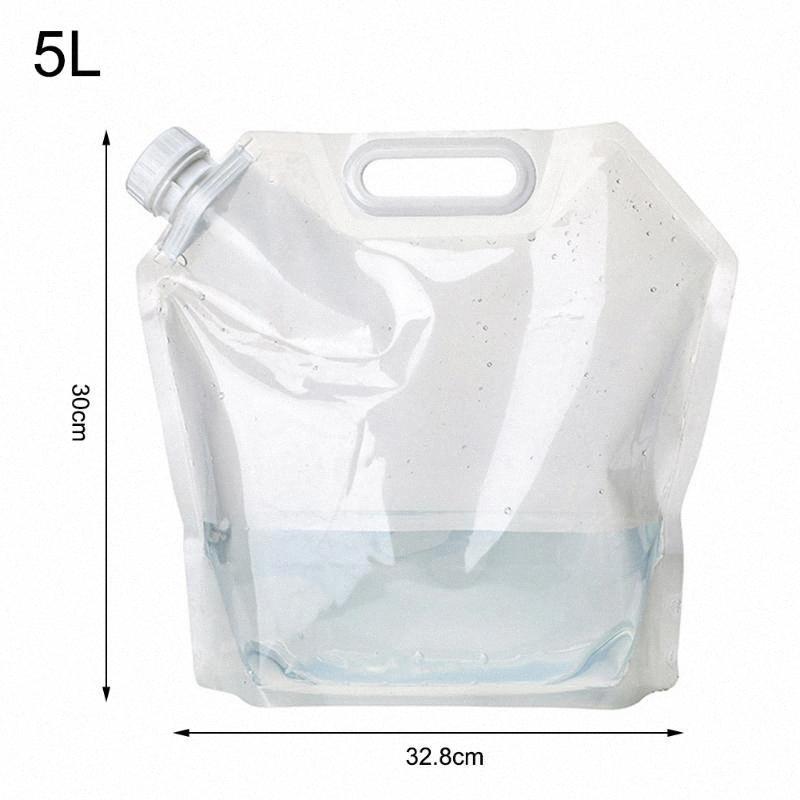 5/10 / 15L Camping-Wasser-Beutel Container bewegliche faltbare im Freien wandernden Weiche Flask Sport-Flaschen-Speicher-Pack neue ZPSb #