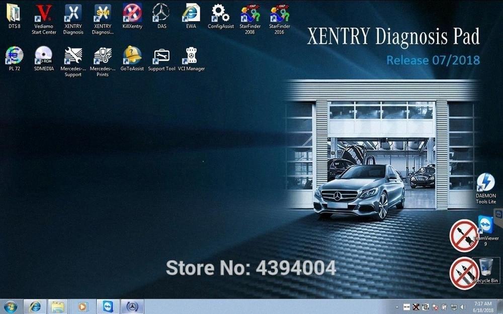 07/2018 Neue Version XENTRY / DAS / EPC / WIS / EWA / Vediamo / DTS Monaco Hard Drive HDD für Sd schließen C4 MB-Stern C5 LKW-Diagnosewerkzeug Auto D g1x4 #