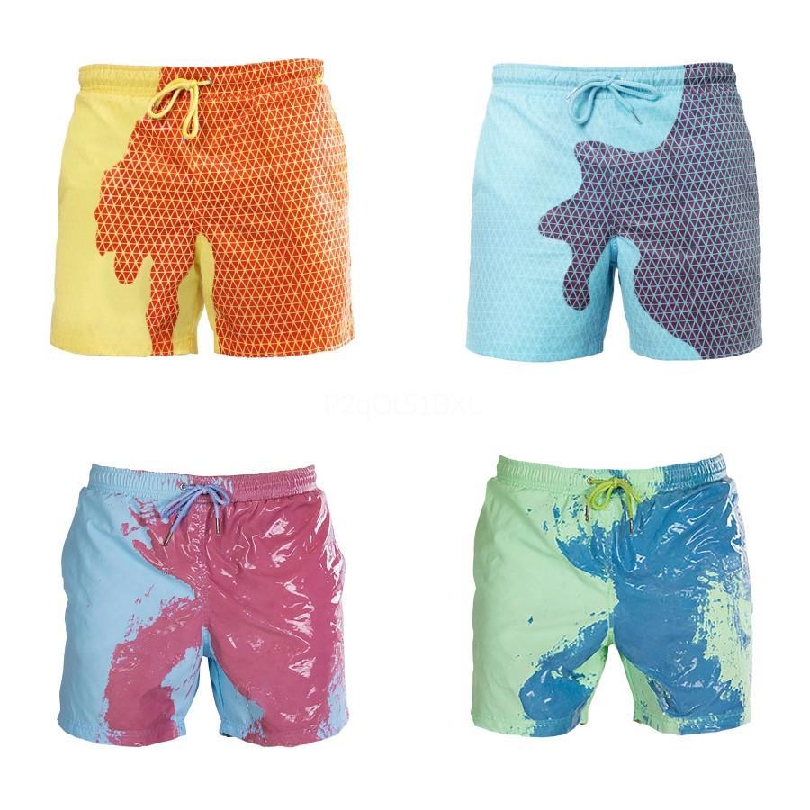 F20Fashion İnce Izgara Casual Küçük At Lüks Erkekler'S Plaj Şort Beach Surf Swim Spor Casual Saf Renk Man Mayo # 388