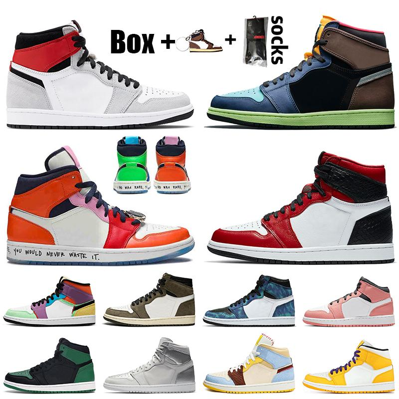 nike des chaussures air retro jordan 1 jumpman 1 travis scott 1 1s off white Chaussures de basket-ball pour hommes pour femmes High OG Bio Hack Fearless Chicago Baskets