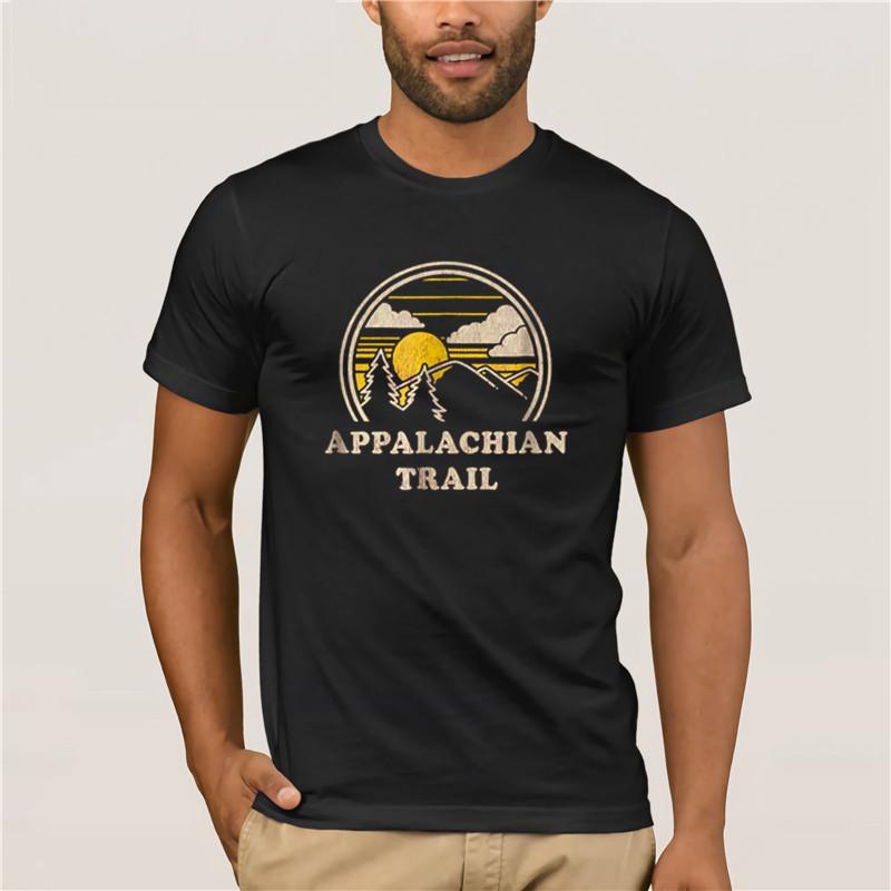 % 100 Pamuk 2020 Erkekler Gömlek Appalachian Trail Vintage Yürüyüş Dağları T Tshir
