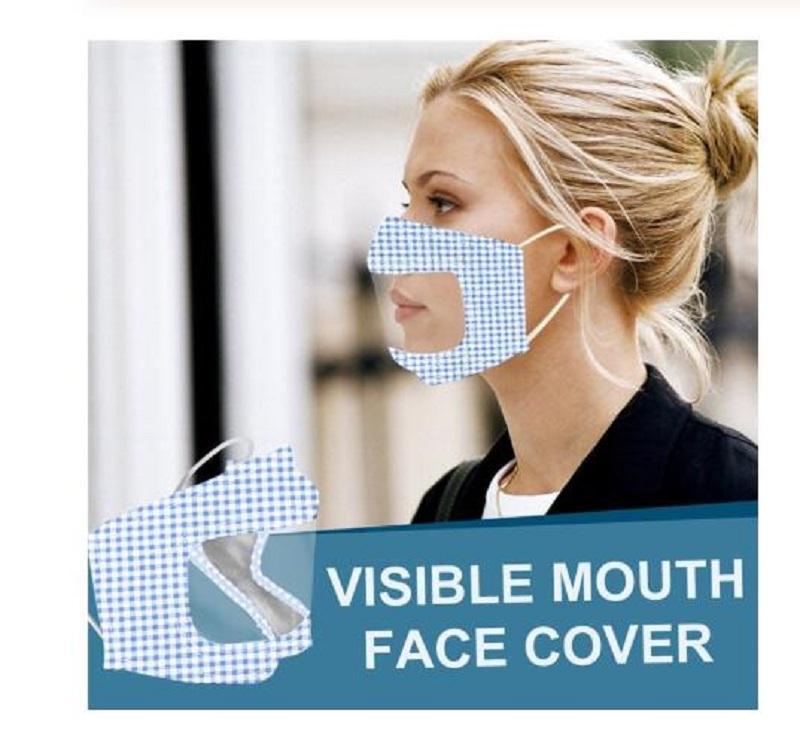Женщины Печатные Lip Язык Визуальный Щит Всплеск Прозрачный протектор лица Transparente лица лицо пылезащитный чехол Защитный Proteccion