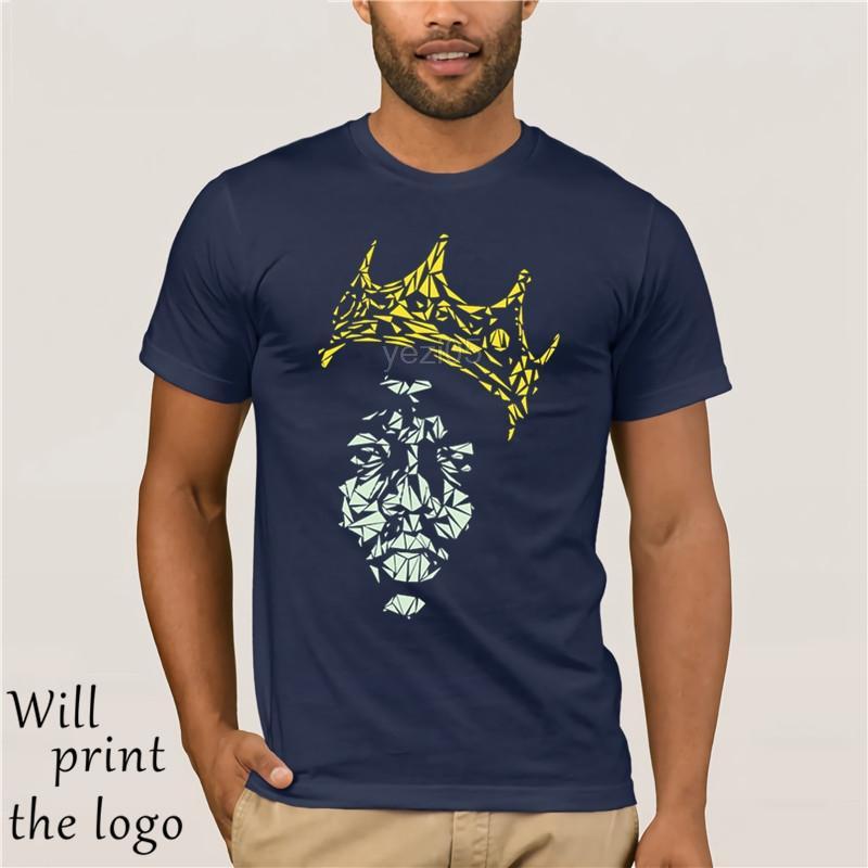 Notorious Big camiseta de manga corta personalizada Ropa de Hiphop de la roca más el tamaño del O-Cuello de algodón del diseño del arte Camisa de los hombres