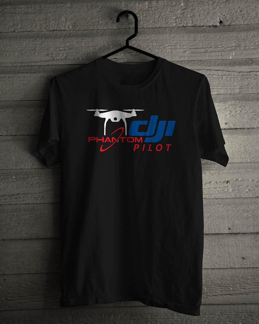 Moda de Nova Top Tees camisetas New DJI Fantasma Professional Pilot Comunidade Negra tamanho da camisa camisas S Para 5XL T