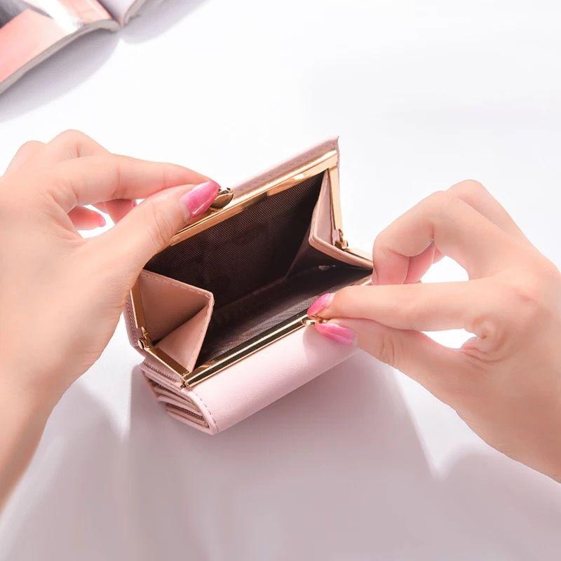 Designer Wallet Korean Style Wallet Womens Short Style Small Animal Cute Fashion Folding Wallet Student Hipster Simple Mini
