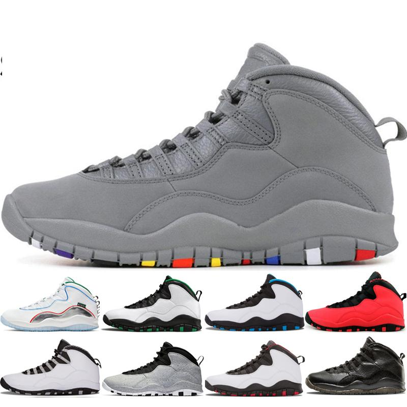 Cool Grey 10s Mens Basketball Shoes