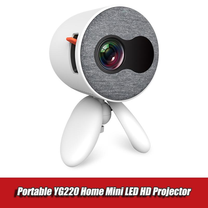 YG220 Mini LED Accueil projecteur Aucun multi-écran 1080P projecteur multimédia HD sans lecteur vidéo batterie média cadeau enfants