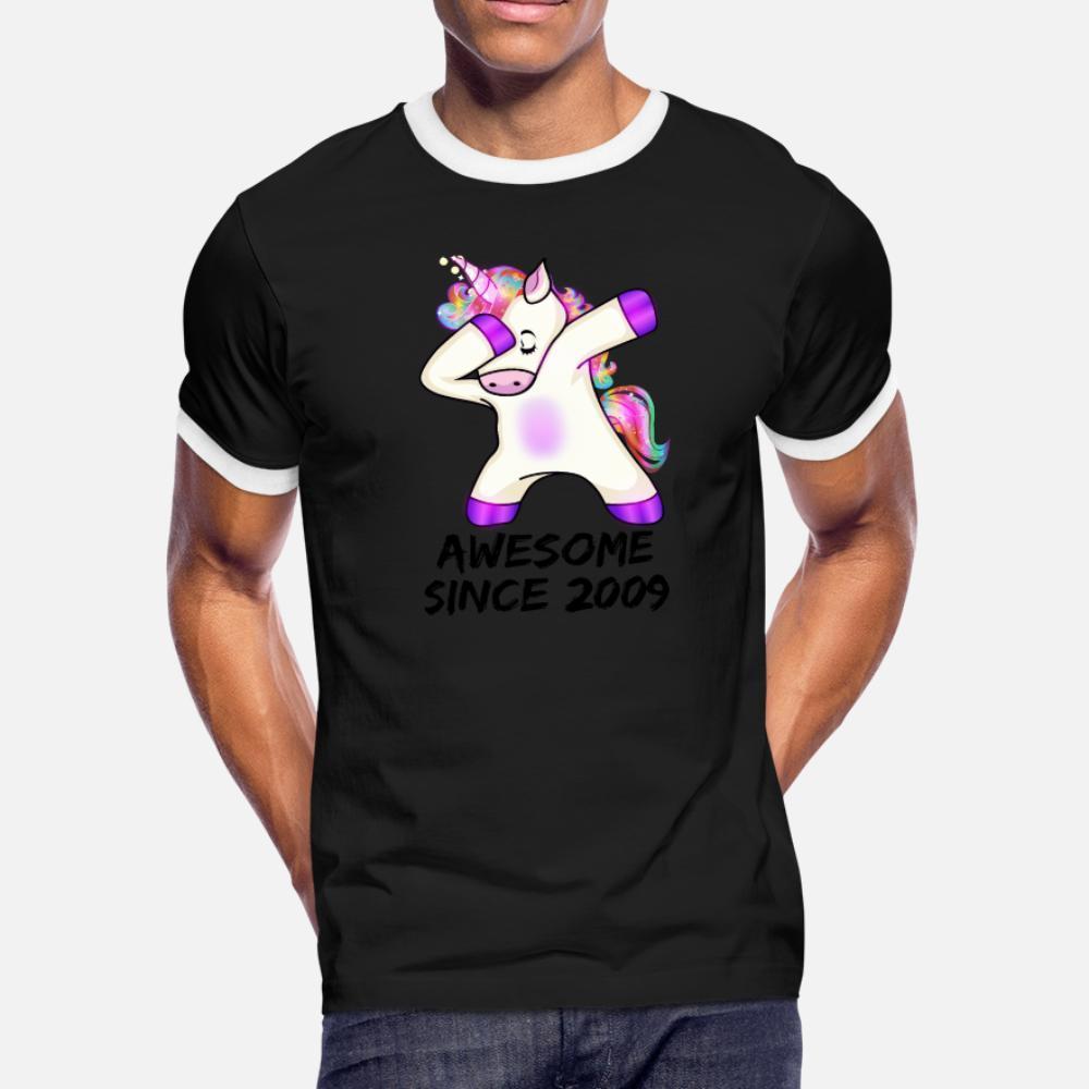 Desde impresionante camisa linda del unicornio 2009 10 cumpleaños Shir hombres de la camiseta personalizada camiseta S-XXXL unisex regalo del estilo del verano cómodo de Kawaii