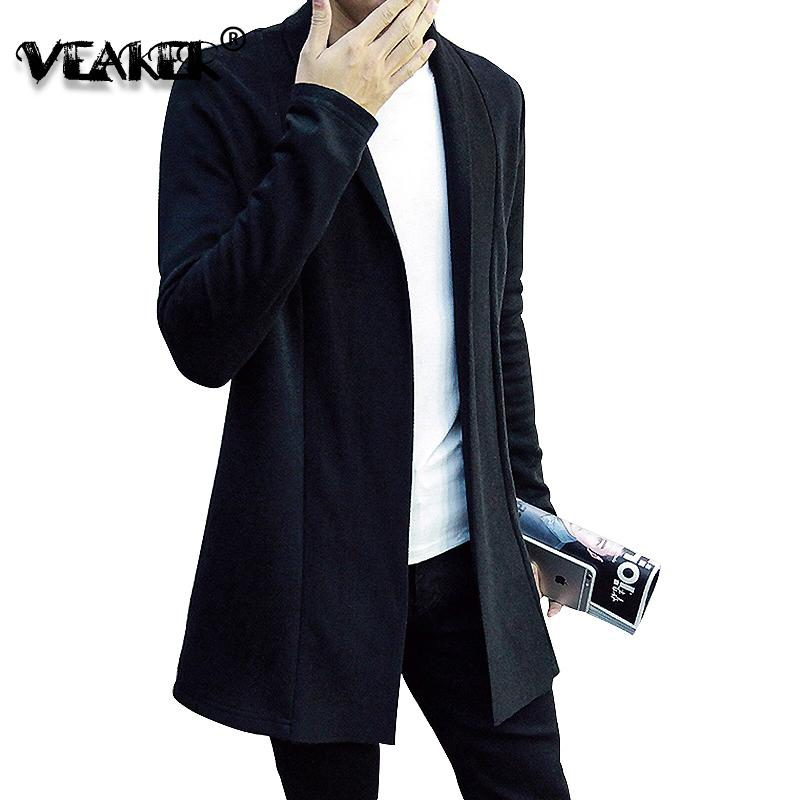 de 2020 New Men Sweater Cardigans Masculino Slim Fit Sweatercoat coreano Estilo manga comprida Cardigan balck Tops Camisolas Casual malha
