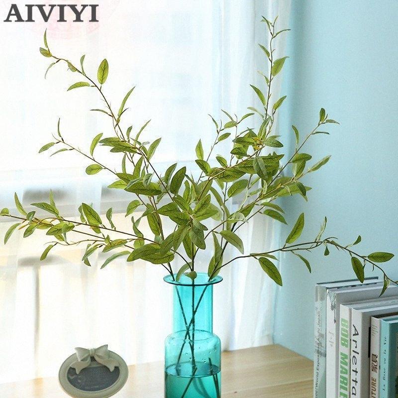 Holly Blätter Pflanzen Kunst treesilk Blume künstliche Blumen gefälschte Pflanzen Palm Innenhauptdekoration dcIL #