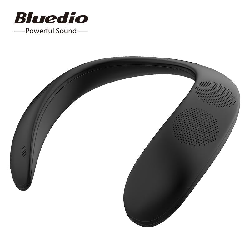 Bluedio HS bluetooth speaker column neck-mounted wireless speaker portable bass bluetooth 5.0 FM radio support SD card slot