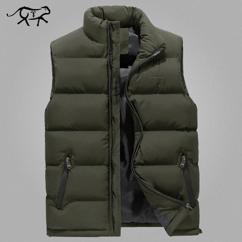 Cálido chaleco de los hombres con estilo de Nueva Primavera chaqueta sin mangas del chaleco de invierno de los hombres del Ejército para hombre chaleco de la manera ocasional otoño abrigos más el tamaño 6XL mDjn #