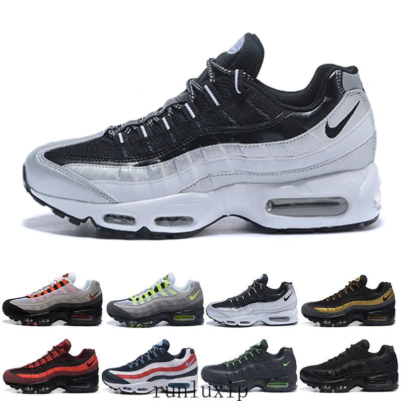 nike air max 95 airmax chaussures nuovo delle donne degli uomini Classico Nero Rosso Bianco Sport Trainer Cuscino superficie traspirante sport scarpe da tennis scarpe da corsa