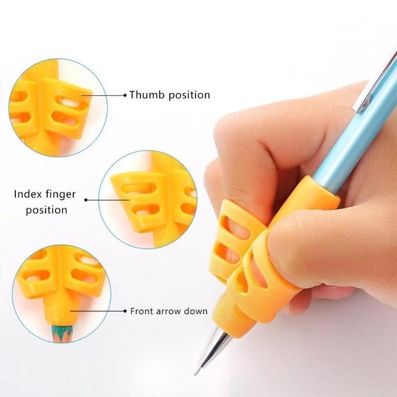 Öğrencilerin Öğrenme Uygulaması Silikon Kalem Yardımı Grip 3adet Çocuk Yazma Kalem Tutucu Öğrenme Kalem Yardımı Tutma Duruş düzeltme