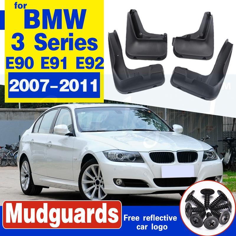 Car avant roue arrière garde-boue pour BMW Série 3 E90 E91 E92 voiture Garde-boue 2007-2011 Bavettes Bavettes Garde-boue Accessorie