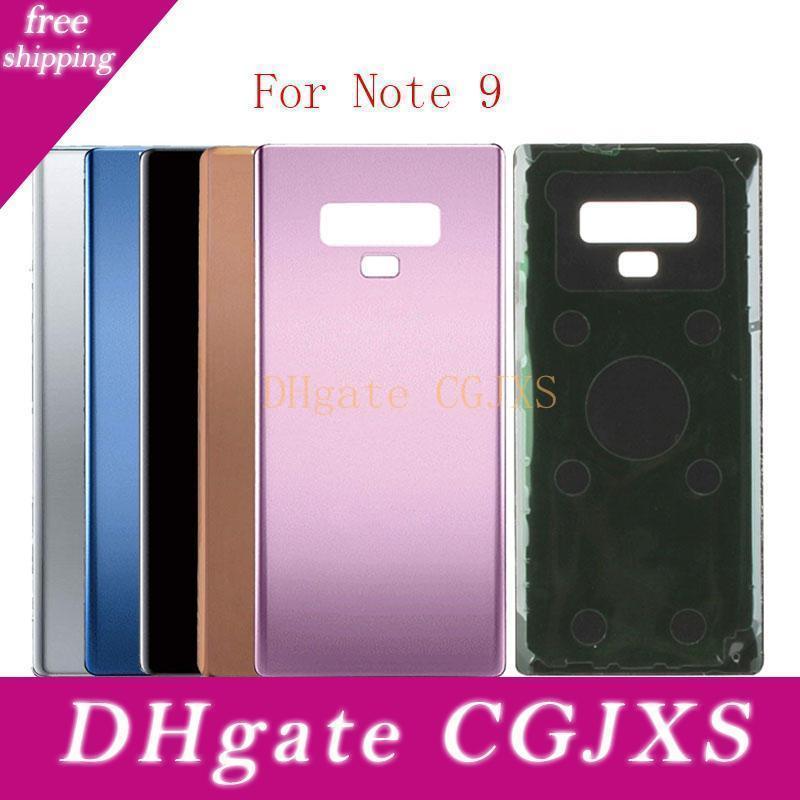 Matériel arrière en verre 50pcs batterie porte pour Samsung Galaxy Note9 Sm -N960f / Ds Sm -N960u Retour en verre Couvercle du boîtier pour la note 9