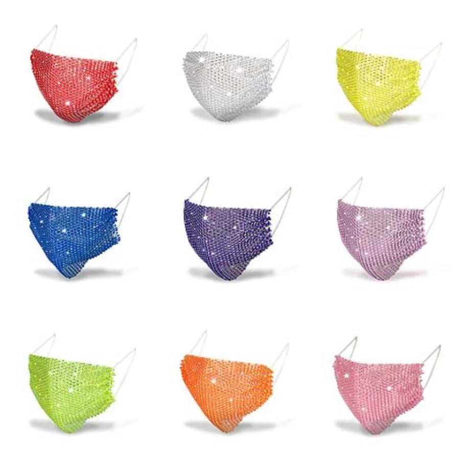 LED Light Up Rave Mask Designer Face Mask Маски для лица Многоразовые маски для лица Luminous Светящиеся Маски для партии Фестиваль Танца подарков, 7 цветов DH # 690