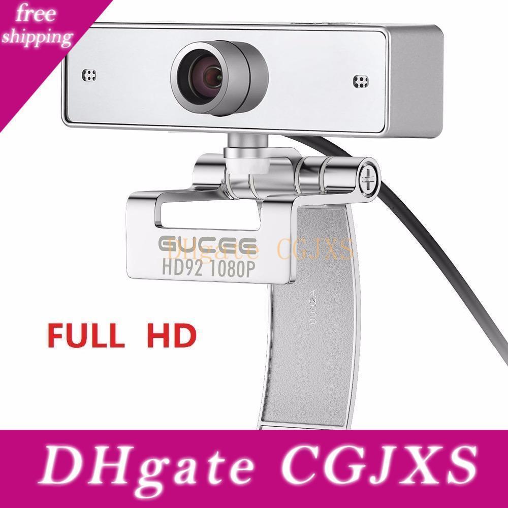 Webcam 1080p Gucee Hd92 Web Cam per Skype con incorporato -In microfono 1920 x 1080p Usb Plug And Play Web Cam Video Widescreen T191230