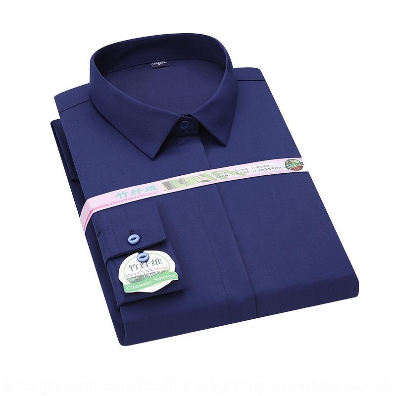 wpljx Ujuzx 2020 nueva fibra de negocios de las mujeres largas de la manga de primavera camisa de las mujeres y el verano no planchar la camisa de bambú desgaste blanco