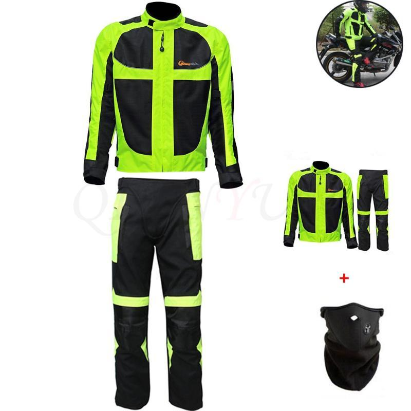 Motorcycle Jacket Men Breathable Mesh Moto Jacket Protective Gear Reflective Motocross Motorcycle Protection Summer Winte