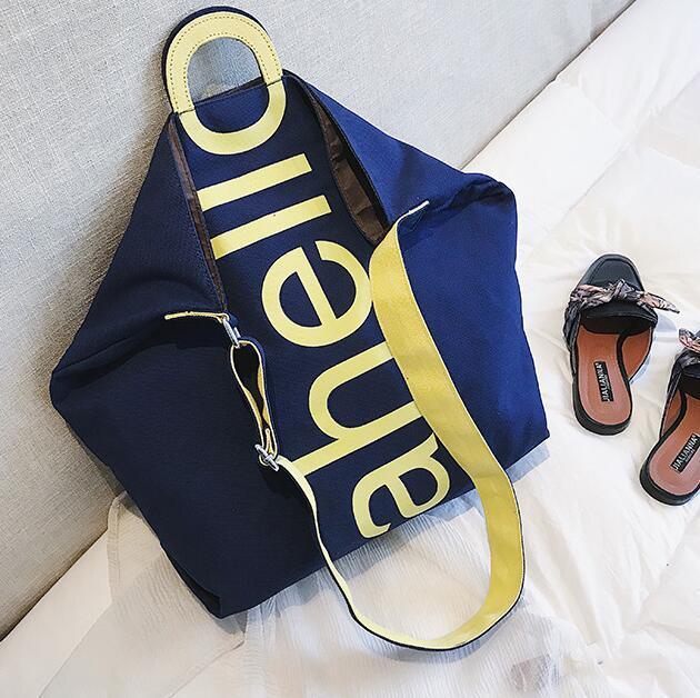 Холст сумка Новая мода женщины Негабаритные хозяйственная сумка Lady плечо сумка большой емкости для путешествий Сумки