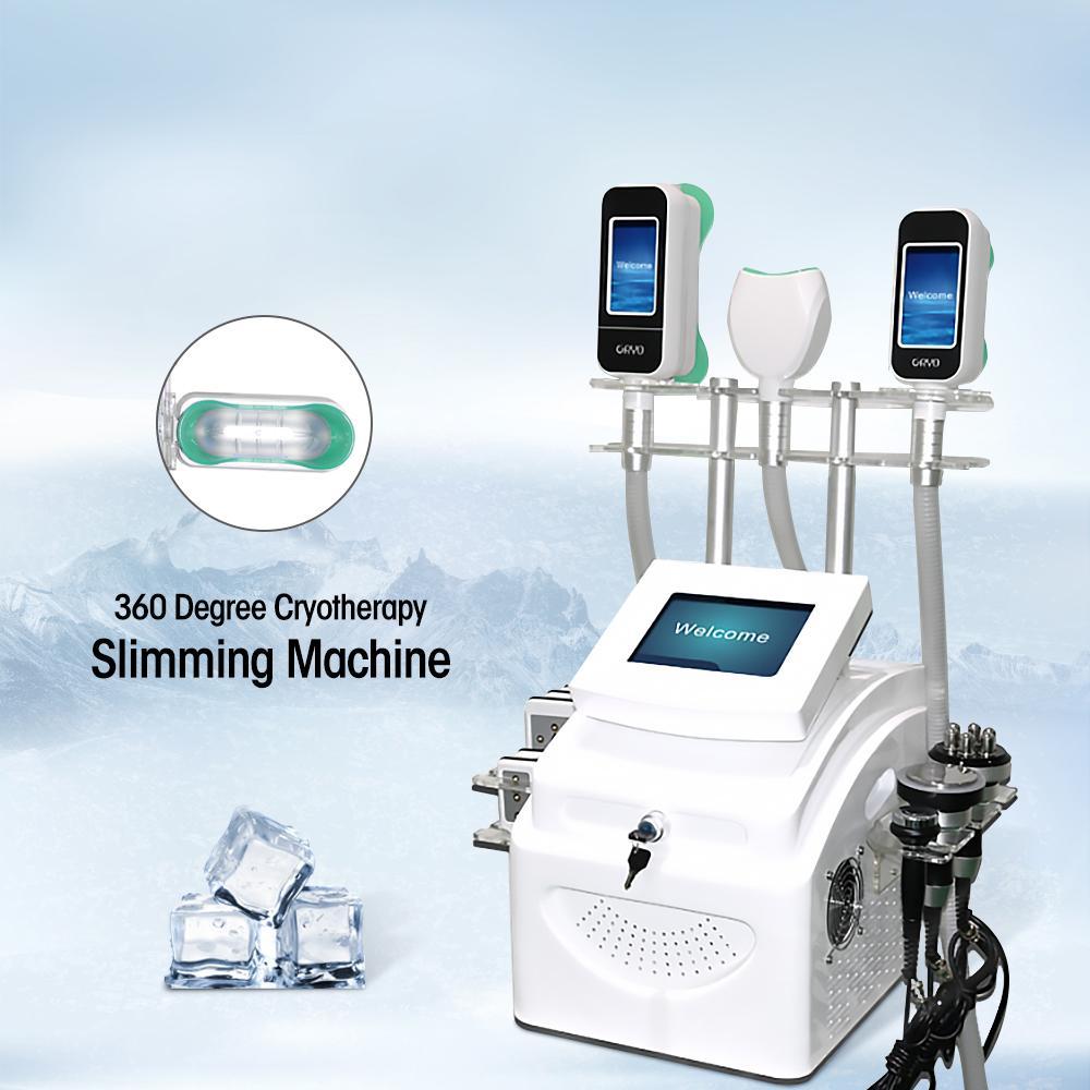 Top Verkauf !!! Fett einfrieren Kavitation Abnehmen Maschine Kryolipolyse CE-Zertifizierung 360 Grad Kryotherapie Lipo Laser Kryo Hohe Qualität Schönheitssalon Ausrüstung