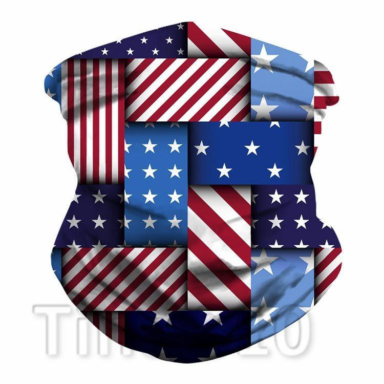 Bandiera 3d di stampa americane sciarpe multifunzione Camouflage Magia Bandane Turbante Equitazione Mask Designer Maskst2i51363