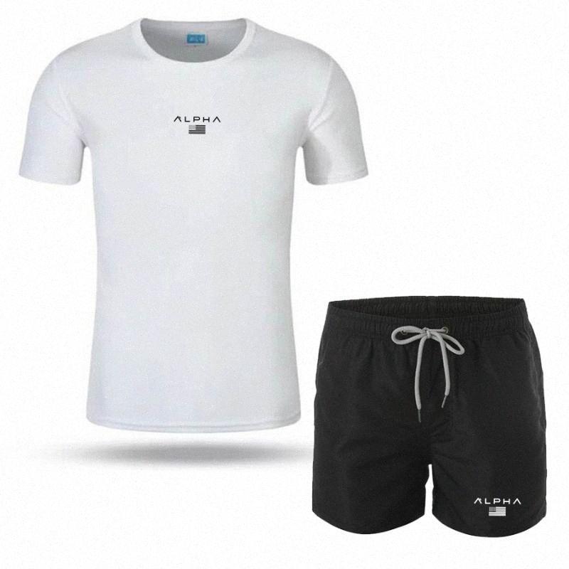 2 шт / комплект для мужчин Tracksuit Gym Фитнес бадминтона Спортивный костюм Одежда Бег Бег Спортивная одежда Упражнение тренировки набор спортивной m8zc #