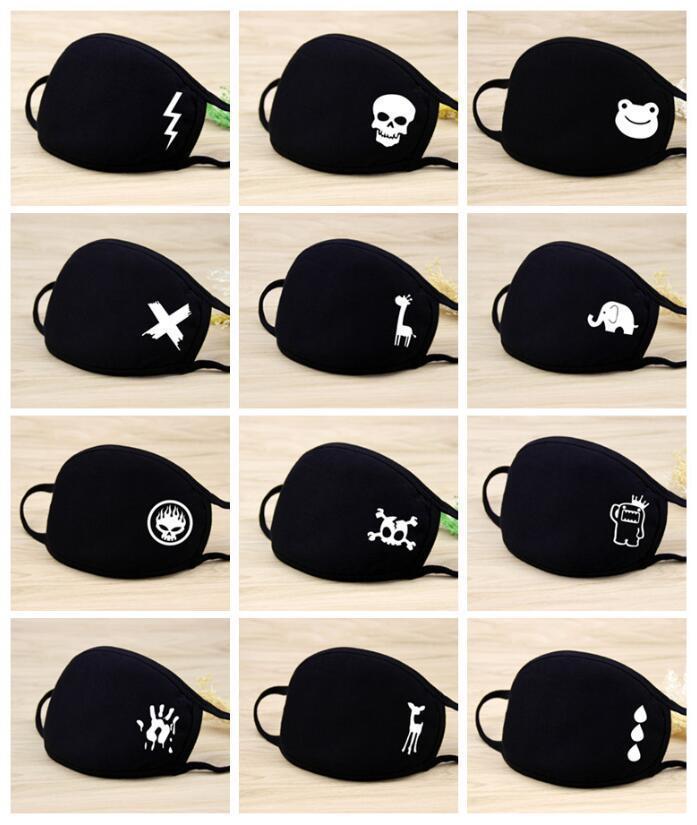 Desenhos animados máscara bonito Kid poluição Anti Poeira reutilizável respirável Algodão Protective PM2.5 anti-poeira Boca Rosto crianças LZ4E
