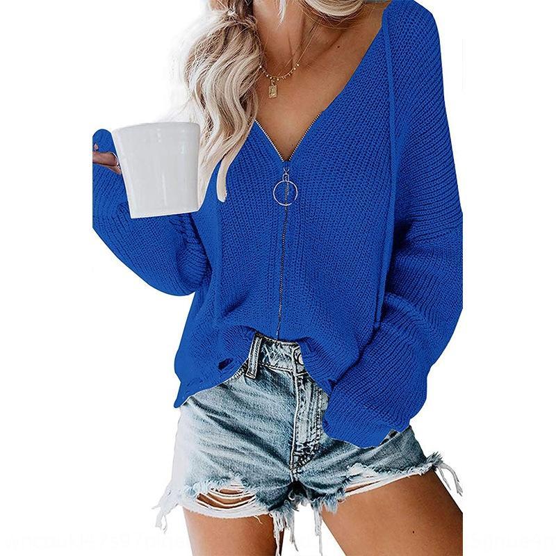 2020 incappucciato allentato 2020 maglione con cappuccio zip zip maglione allentato delle donne di
