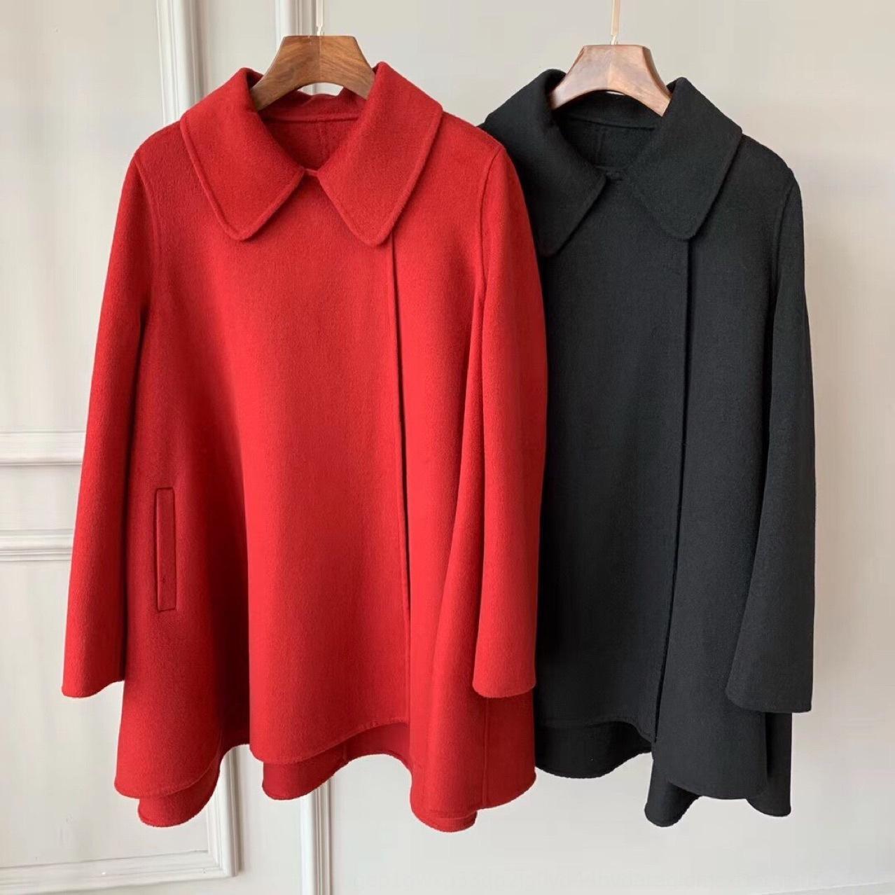elegante mantello gonna cappotto di cachemire autunno e l'inverno di lana di lana del cappotto DY0717S Mantello britannico materiale 3 m dimagrante