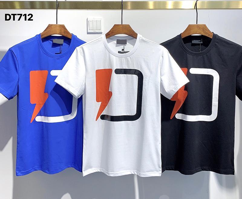 2020 Ins Hot Primavera-Verão Trovão americano Logo camisa T do skate dos homens t Mulheres rua camisetas Casual