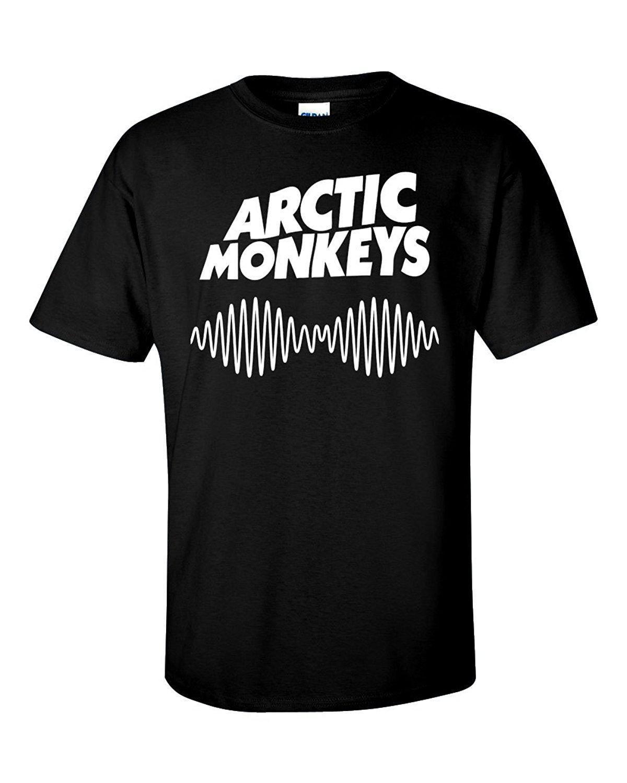 Arctic Monkeys Am Rock Band Uk Flag Männer Weiß-Schwarz-T-Shirt Größe S bis 3XL Männer-T-Shirt Der niedrigste Preis 100% Baumwolle