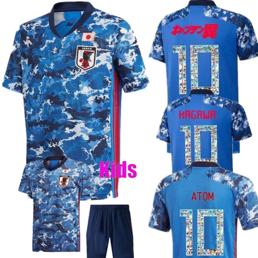 Japan soccer jersey cartoon number fonts 10 Player version Jersey 2020 2021 Thailand top quality 18 19 soccer uniform tracksuit S - XXXL