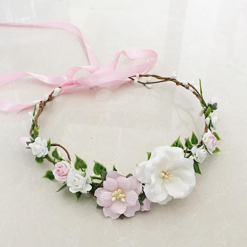 Livraison gratuite Rose Ivoire Flower Girl Crown