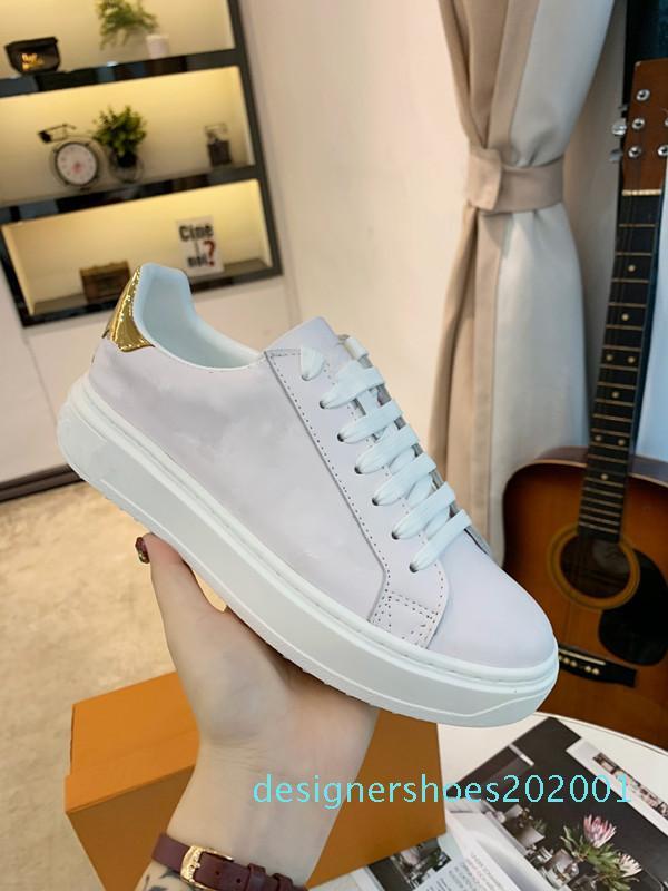 Lujo calientes del cuero ocasionales populares zapatos hombres de las mujeres zapatillas de deporte de cuero de zapatos del diseñador de moda de encaje hasta zapatos de color mixto d01