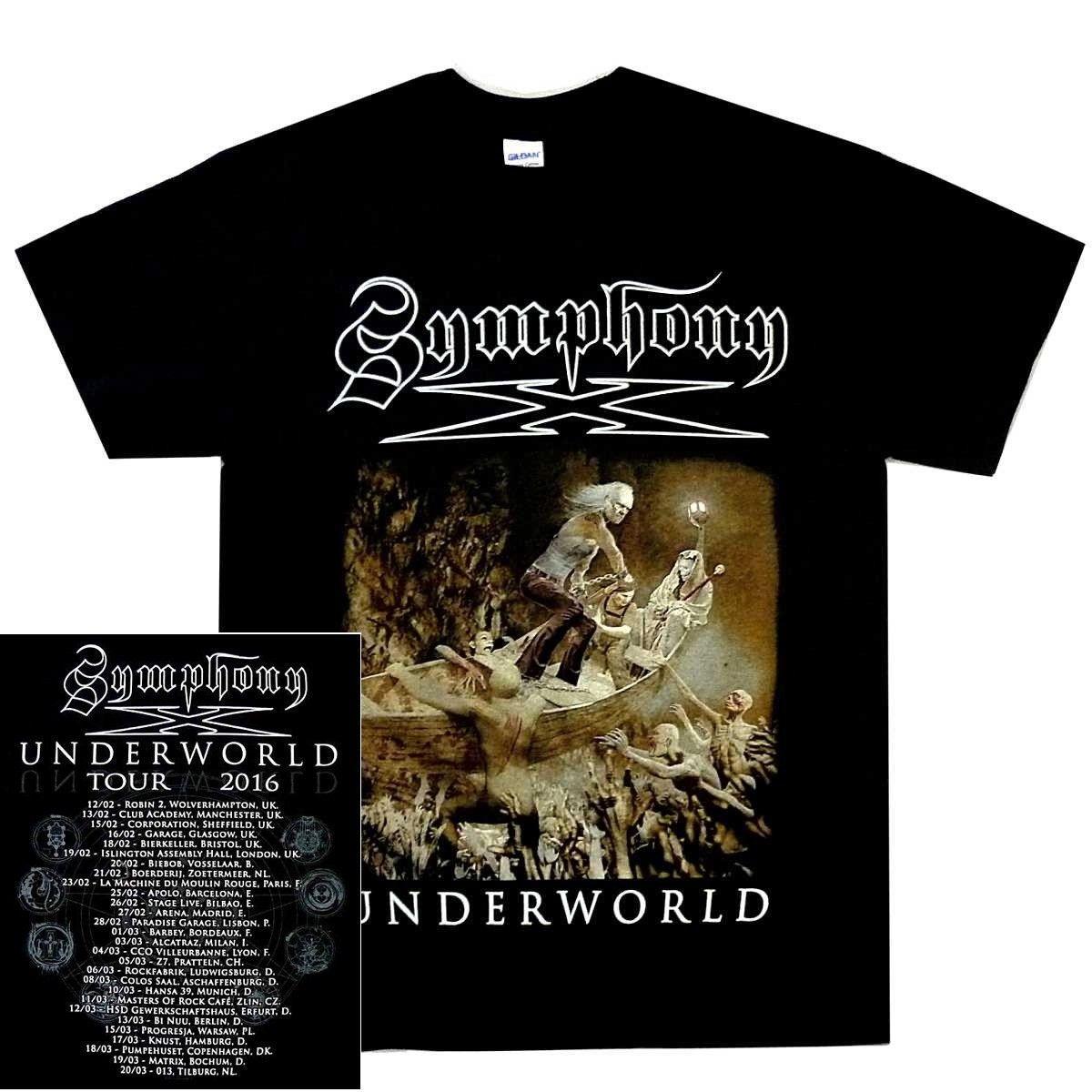 Symphony X Underworld Nave maglietta 2018 nuovo puro maniche corte in cotone di Hip Hop Moda Uomo T-shirt Western Style Top Tee