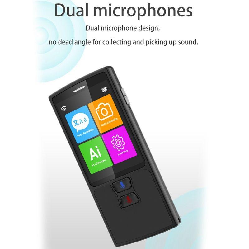 Портативный Смарт Instant Voice Translator D9 Multi-Language Speech Interactive Переводчик Bluetooth в режиме реального времени