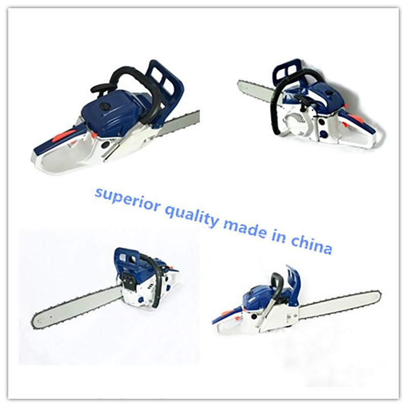 PTCS034 58cc Chainsaw gardening tool Tree cuttingSmall household chainsaw factory outletBlue and white made in china
