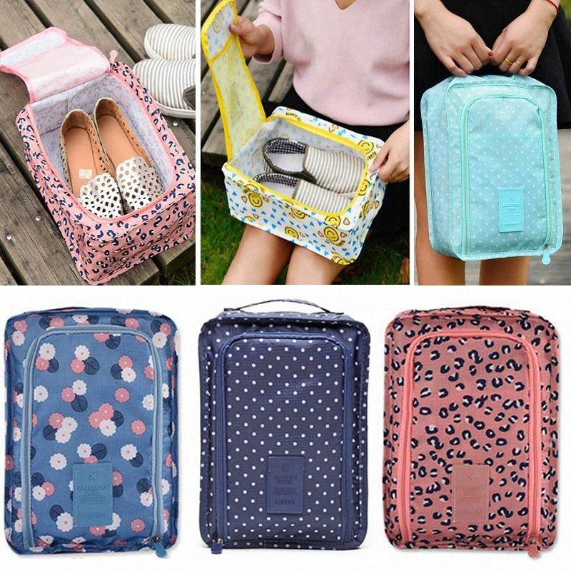 Viagem Folding sacos de armazenamento para os sapatos Roupa Cosmetic Pacote de armazenamento à prova d'água Nylon Pouch Organizer Bag Zipper bolso HH7-1258 aOjy #