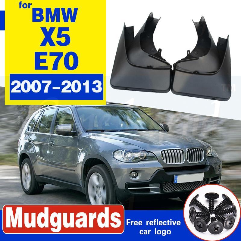VORN HINTEN Schmutzfängern FIT FOR BMW X5 E70 2007-2013 ZUBEHÖR MUD FLAP flattert Spritzen-Schutz KOTFLÜGEL 2008-2010 2011 2012