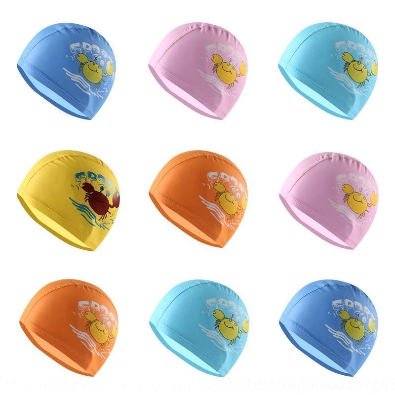 ПУ плавание ПУ плавания мультфильма мило крышка покрытия водонепроницаемого уха защиты Детской шапка M007 qOwel