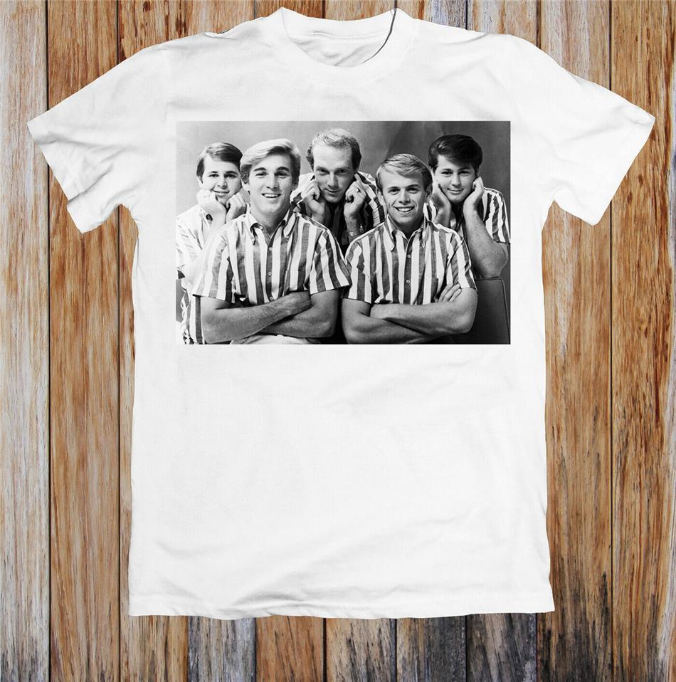 Os Beach Boys 1960 Retrato Hipster Unisex Punk Rock T Shirt Camiseta 20 30 40 50 aniversário