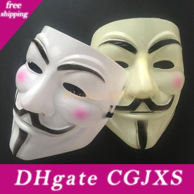 V máscara máscaras de disfraces para la fiesta de la bola Valentine Anonymous Vendetta completo Decoración del partido de Cosplay Cara asustadiza de Halloween Máscara WX9 -391