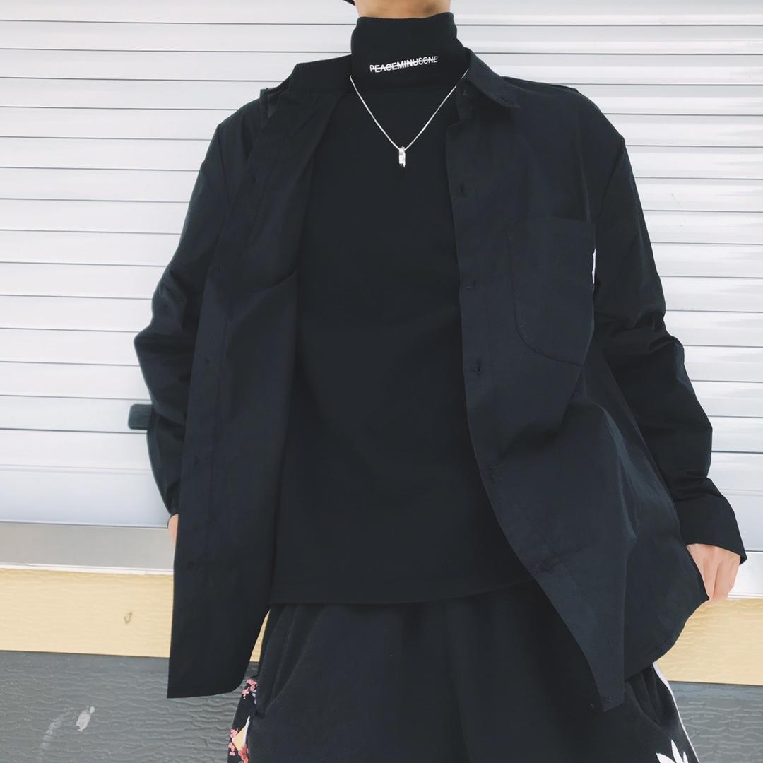 نيو تنوعا قميص مصمم للرجال والنساء محايد كم طويل قميص معطف الموسمية تنوعا معطف 1: 1 2081306B