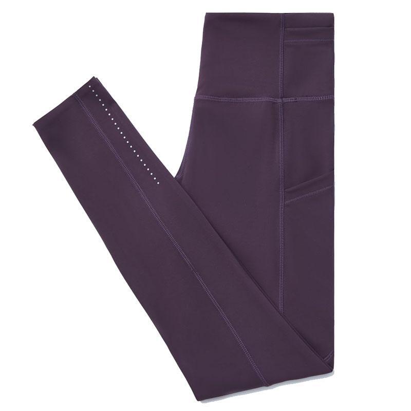 йога штаны для женщин высокой талии йоги нарядах дамы спорта карманные гетры женские штаны упражнения фитнес-одежда для девочек поножи L-06