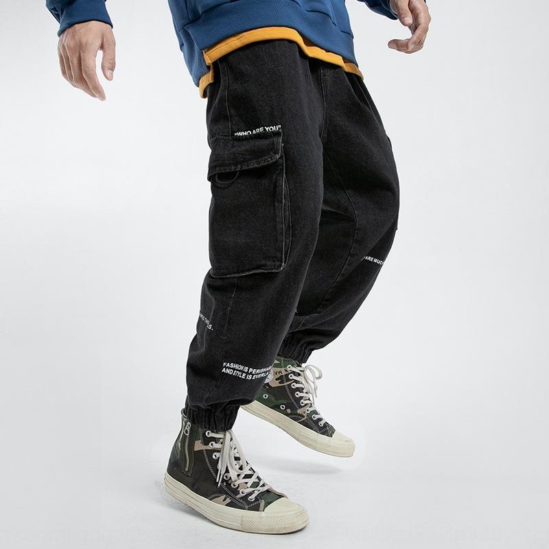 Мужская хип-хоп письмо мульти-карман гарем и брюки мужские хип-хоп письмо мульти-карман шаровары джинсы и джинсы брюки