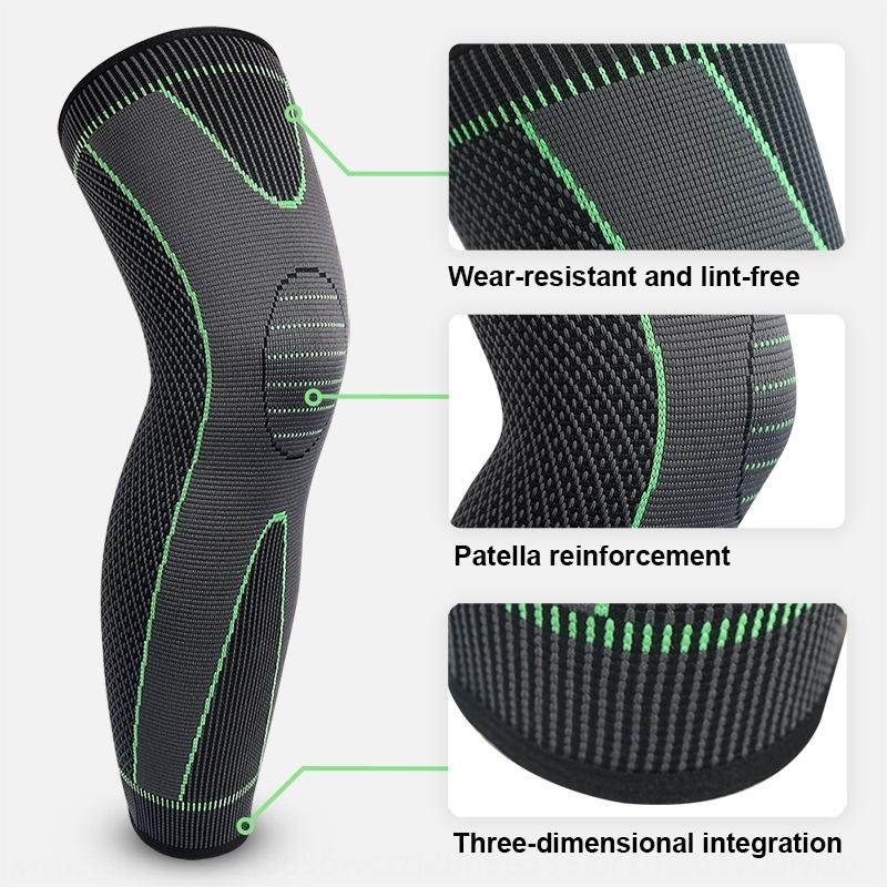 Knitted nylon sports lengthened knee pads for men and women autumn and winter leg protection Warm Basketball Basketball mountaineering warm
